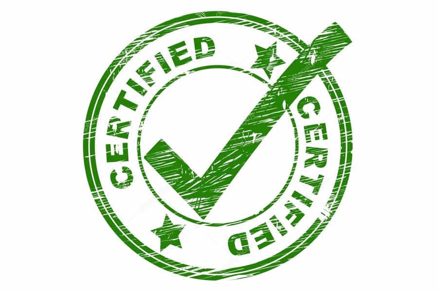 gases autenticados e certificados